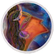 Bliss Shiva Round Beach Towel