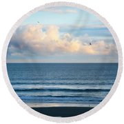 Blissful Blues Round Beach Towel