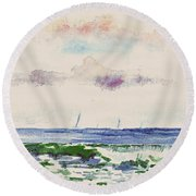 Block Island Sound Round Beach Towel