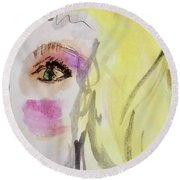 Blonde Round Beach Towel