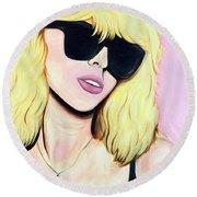 Blondie-debbie Harry Round Beach Towel
