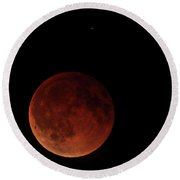 Blood Moon Eclipse Round Beach Towel