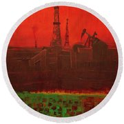 Blood Of Mother Earth Round Beach Towel