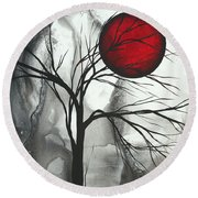Blood Of The Moon 2 By Madart Round Beach Towel