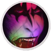 Bloody Demon Round Beach Towel by Kevin Caudill