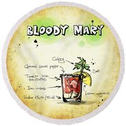 Bloody Mary Round Beach Towel by Movie Poster Prints