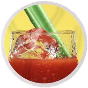 Bloody Mary Round Beach Towel