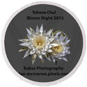 Round Beach Towel featuring the photograph Bloom Night T Shirt by Dan McManus