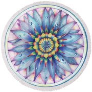 Bloom Of Counsciousness Round Beach Towel