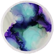 Bloom Round Beach Towel by Tracy Male