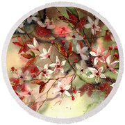 Blooming Magical Gardens IIi Round Beach Towel