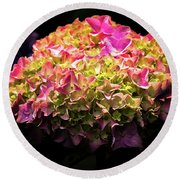 Round Beach Towel featuring the photograph Blooming Pink Hydrangea by Onyonet  Photo Studios