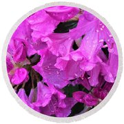 Blooming Rhododendron Round Beach Towel