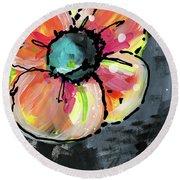 Blooming Wildflower- Art By Linda Woods Round Beach Towel
