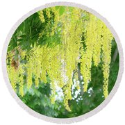 Blossicles Round Beach Towel