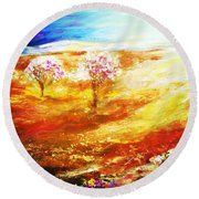 Blossom Dawn Round Beach Towel