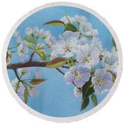 Blossoms Round Beach Towel