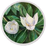 Blossoms In The Sunlight Round Beach Towel
