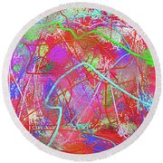 Blots Round Beach Towel
