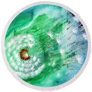 Blown Away Round Beach Towel