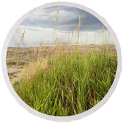 Blown By The Wind Round Beach Towel