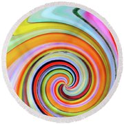 Blown Glass Artwork Round Beach Towel