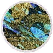 Blue Abstract Art - Deeper Visions 2 - Sharon Cummings Round Beach Towel