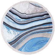 Blue Abstract Art - Water And Sky - Sharon Cummings Round Beach Towel