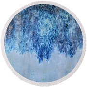 Blue Abstract One Round Beach Towel
