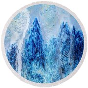 Blue Abstract Two Round Beach Towel