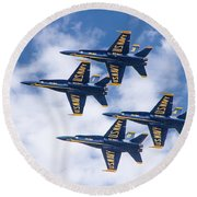 Blue Anges X 4 Round Beach Towel