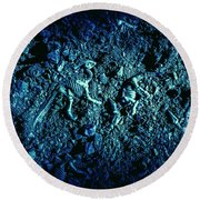 Blue Archaeology Round Beach Towel