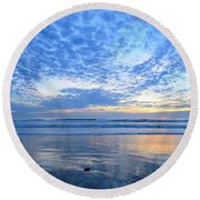 Round Beach Towel featuring the photograph Beach Home Blues by John F Tsumas