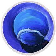 Blue Ball Round Beach Towel