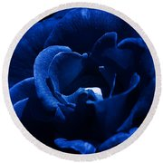 Blue Blue Rose Round Beach Towel
