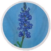 Blue Bonnet Round Beach Towel