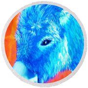 Blue Burrito Round Beach Towel