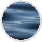 Blue Round Beach Towel by Cathie Douglas