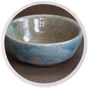 Blue Ceramic Drippy Bowl Round Beach Towel by Suzanne Gaff
