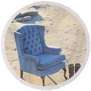 Blue Chair Round Beach Towel