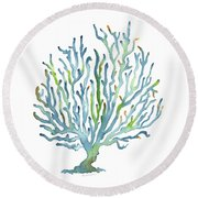 Blue Coral Round Beach Towel