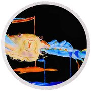 Blue Crab Two Round Beach Towel