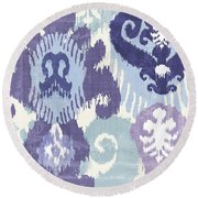 Blue Curry I Round Beach Towel by Mindy Sommers
