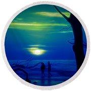 Blue Dawn Round Beach Towel