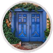 Blue Doors - Old Town - Albuquerque Round Beach Towel