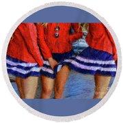 Blue Dress Breeze Round Beach Towel