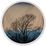 Round Beach Towel featuring the photograph Blue Dusk by Chris Berry