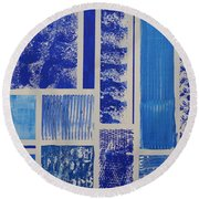 Blue Expo Round Beach Towel