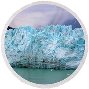 Blue Glacier Round Beach Towel