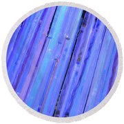 Round Beach Towel featuring the photograph Blue Glass by Jamart Photography